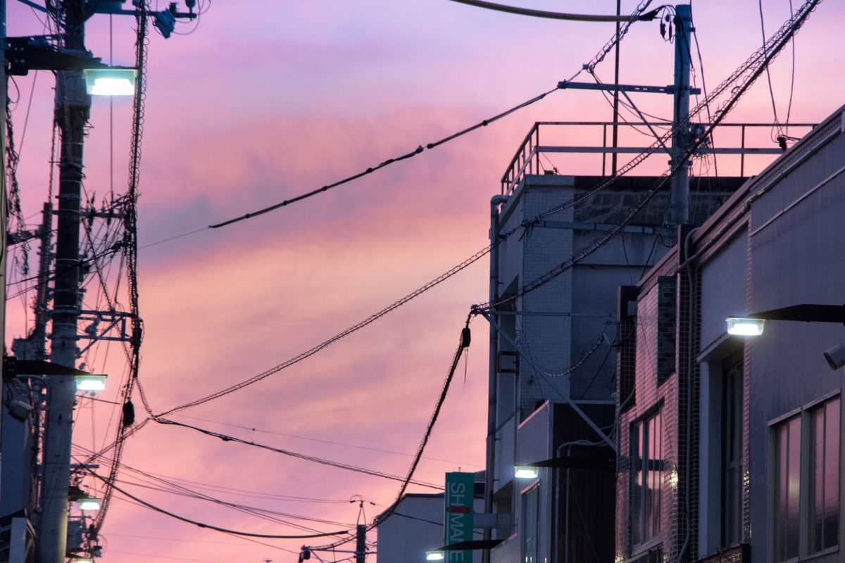 商店街の夕暮れ/The evening of the street