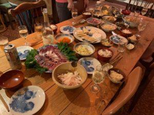 珍しく豪華な食卓