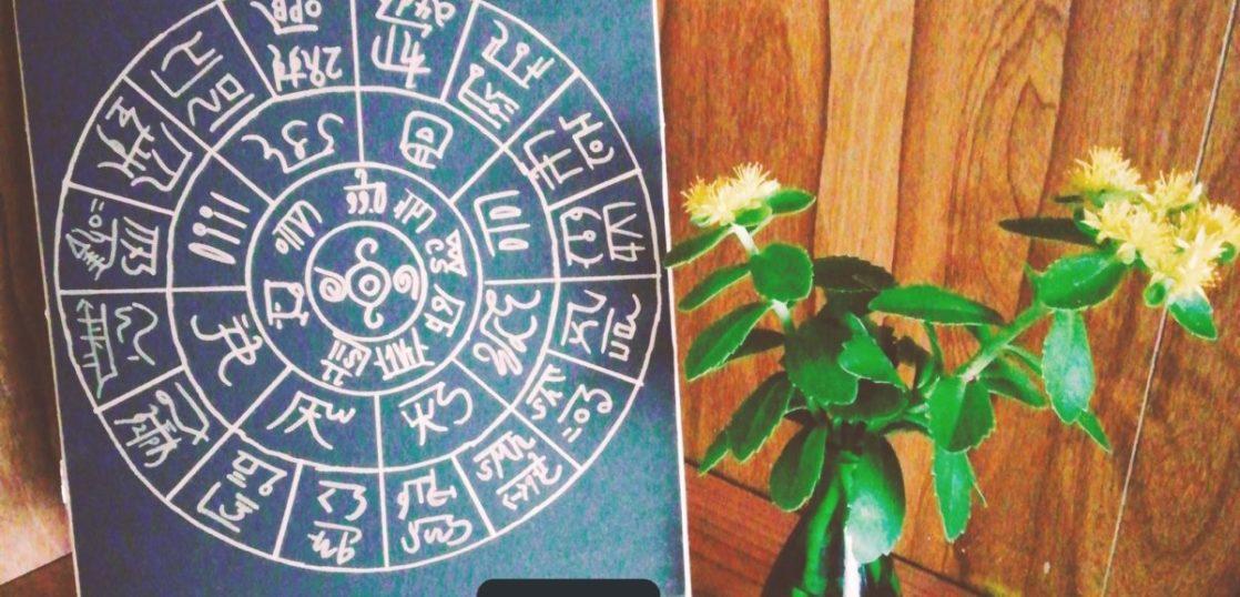 龍体文字のフトマニ図